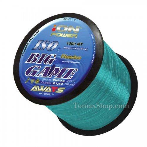 AWAS ION POWER BIG GAME FLUORINE 1000m, монофилно влакно - Риболовни принадлежности TomaxShop ®