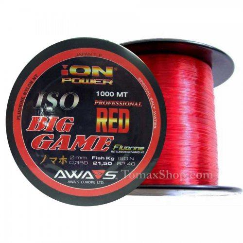 AWAS ION POWER BIG GAME RED 1000m, монофилно влакно - Риболовни принадлежности TomaxShop ®