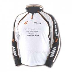 Бяла спортна блуза с яка AWA-SHIMA S-MISSION
