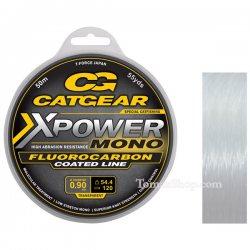 CATGEAR X-POWER MONO LEADER 50m, влакно с флуорокарбон покритие
