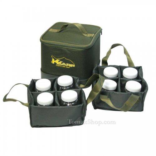 Чанта за стръв K-KARP 8 CANS BAIT BAG - Риболовни принадлежности TomaxShop ®