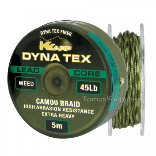 K-KARP DYNA TEX LEAD CORE WEED 5m, плетено влакно - Риболовни принадлежности TomaxShop ®