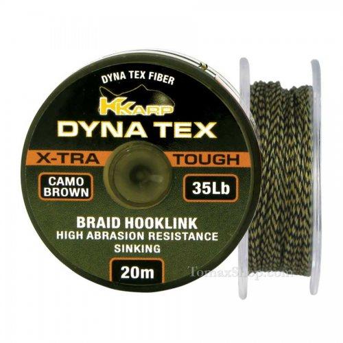 K-KARP DYNA TEX X-TRA TOUGH CAMO BROWN 20m, плетено влакно - Риболовни принадлежности TomaxShop ®