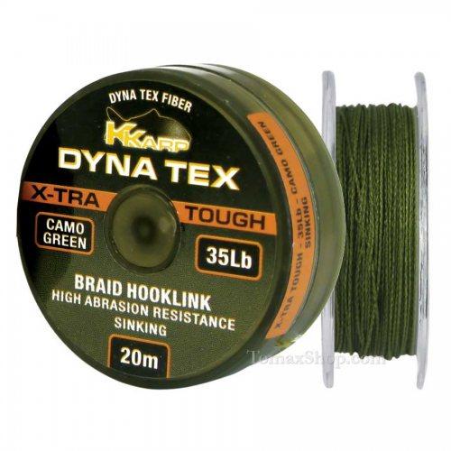 K-KARP DYNA TEX X-TRA TOUGH CAMO GREEN 20m, плетено влакно - Риболовни принадлежности TomaxShop ®