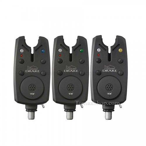 Комплект сигнализатори със станция K-KARP DRAKE XT BITE ALARM SET 3+1 - Риболовни принадлежности TomaxShop ®