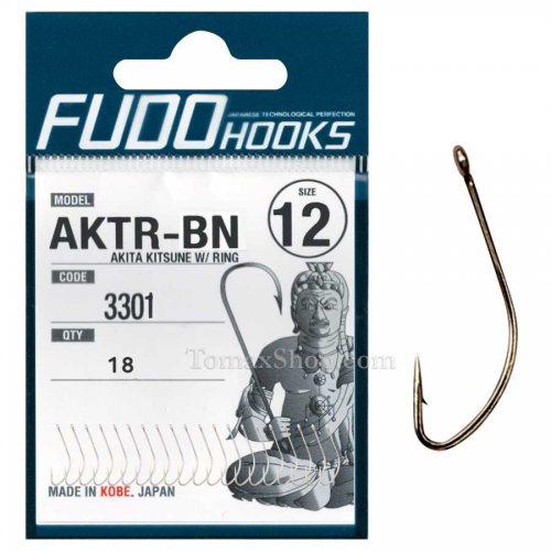 Куки FUDO AKITA KITSUNE W/RING 3301 BN - Риболовни принадлежности TomaxShop ®