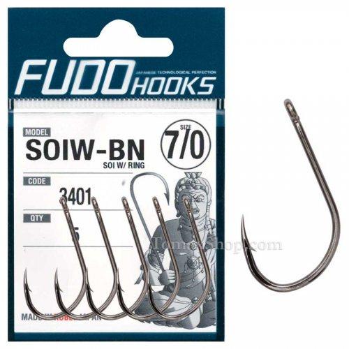 Куки за сом FUDO SOI W/RING 3401 BN - Риболовни принадлежности TomaxShop ®