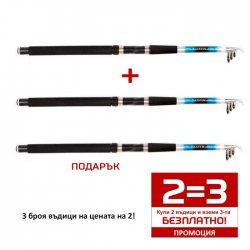 Промоция! 2 = 3! Комплект от 3 броя шаранджийски въдици TOMAX CARP MASTER 100-200gr. 3.00m