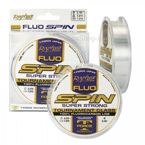 RAPTURE SPIN FLUO 100m, флуорокарбон влакно - Риболовни принадлежности TomaxShop ®