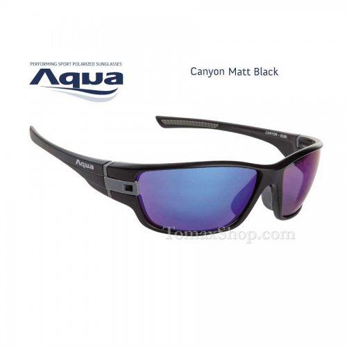 Слънчеви очила AQUA CANYON BLACK MATT B MIRROR BLUE - Риболовни принадлежности TomaxShop ®