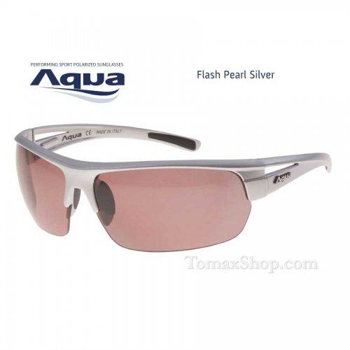 Слънчеви очила AQUA FLASH PEARL SILVER - Риболовни принадлежности TomaxShop ®