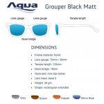 Слънчеви очила AQUA GROUPER BLACK MATT - Риболовни принадлежности TomaxShop ®