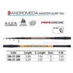 TRABUCCO ANDROMEDA MASTER SURF 150gr. 3.90m, въдица за морски риболов - Риболовни принадлежности TomaxShop ®