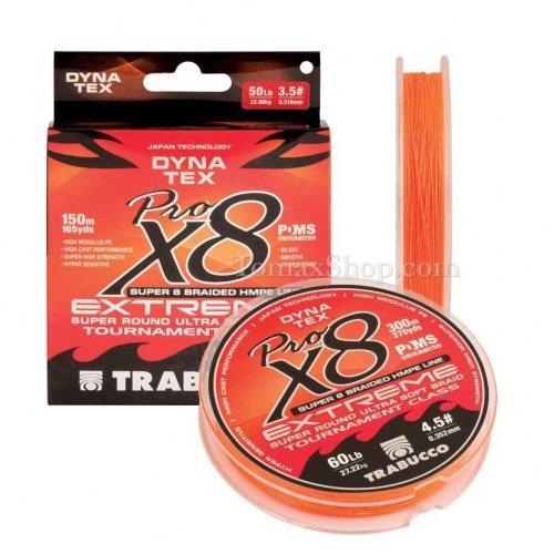 TRABUCCO DYNA TEX X8 EXTREME PRO 150m, плетено влакно - Риболовни принадлежности TomaxShop ®