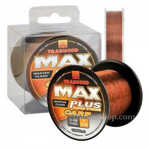 TRABUCCO MAX PLUS CARP 1000m, монофилно влакно - Риболовни принадлежности TomaxShop ®