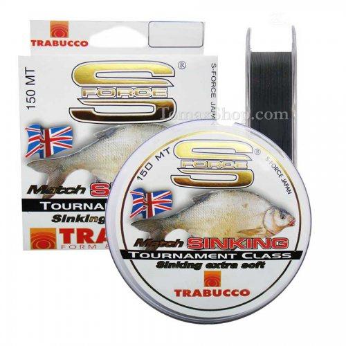 TRABUCCO S-FORCE MATCH SINKING 150m, монофилно влакно - Риболовни принадлежности TomaxShop ®