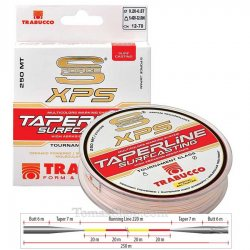 TRABUCCO S-FORCE XPS TAPERLINE SURFCASTING 250m 0.26>0.57, монофилно тапер влакно