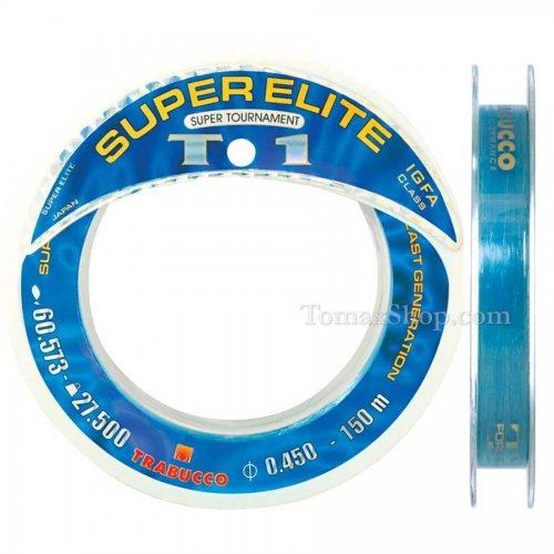 TRABUCCO SUPER ELITE T1 SUPER TOURNAMENT 150m, монофилно влакно - Риболовни принадлежности TomaxShop ®