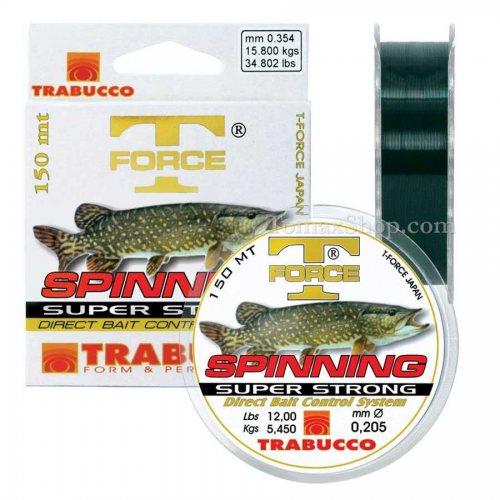 TRABUCCO T-FORCE SPINNING PIKE 150m, монофилно влакно - Риболовни принадлежности TomaxShop ®