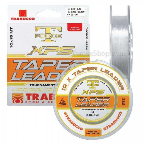 Монофилно влакно шоклидер TRABUCCO T-FORCE XPS TAPER LEADER 10x15m 0.26>0.57 - Риболовни принадлежности TomaxShop ®