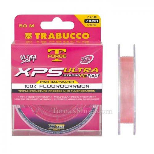 TRABUCCO T-FORCE XPS ULTRA STRONG FC403 PINK SW 50m, флуорокарбон влакно - Риболовни принадлежности TomaxShop ®
