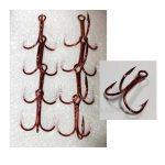 Тройни куки AWA-SHIMA SPI ROUND RED 8248 - Риболовни принадлежности TomaxShop ®