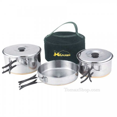 Туристически комплект за готвене K-KARP COOKING SET - Риболовни принадлежности TomaxShop ®