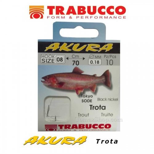 Вързани куки TRABUCCO AKURA TROTA - Риболовни принадлежности TomaxShop ®