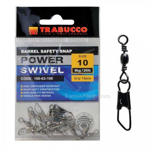 Вирбели с карабина TRABUCCO BARREL SAFETY SNAP - Риболовни принадлежности TomaxShop ®