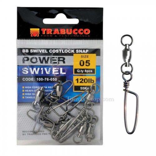 Вирбели TRABUCCO BB SWIVEL COSTLOCK SNAP - Риболовни принадлежности TomaxShop ®