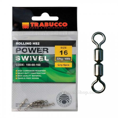 Вирбели TRABUCCO ROLLING HS2 POWER SWIVEL - Риболовни принадлежности TomaxShop ®